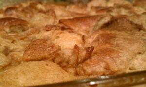 Creme Brulee Croissant Bread Pudding